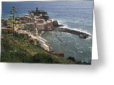 The Village Of Vernazaa On Italys Greeting Card