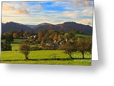 The Village Of Watermillock In Cumbria Uk Greeting Card