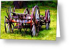 The Wagon At El Prado Greeting Card