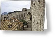 The Wall In Dubrovnik Greeting Card