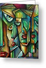 The Wall Greeting Card by Michael Lang