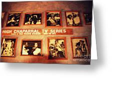 The Wall Of Fame In Old Tuscon Az Greeting Card