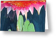 The Water Lily Unleashed Greeting Card