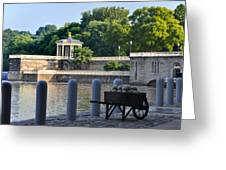 The Waterworks Wheelbarrow - Philadelphia Greeting Card