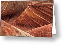 The Wave Into The Fold Greeting Card