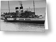 The Waverley Paddle Steamer Mono Greeting Card
