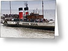 The Waverley Paddle Steamer Greeting Card
