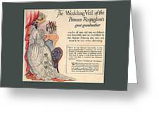 The Wedding Veil Of The Princess Rospigliosi's Great Grandmother Greeting Card