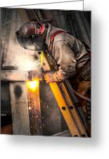 The Welder Greeting Card by Brenda Bryant
