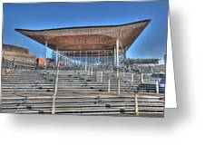 The Welsh Assembly Building Greeting Card