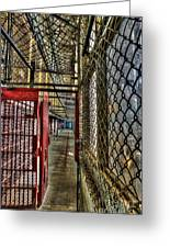 The West Virginia State Penitentiary Cell Hallway Greeting Card