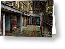The West Virginia State Penitentiary Cells Greeting Card
