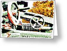 The Wheels Of War Keep On Turning Greeting Card