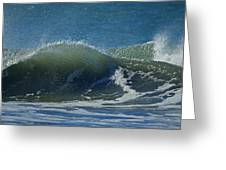 The Windblown Wave Greeting Card
