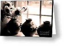 The Window Vases Greeting Card
