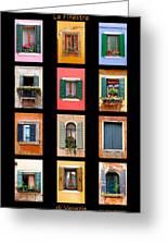 The Windows Of Venice Greeting Card