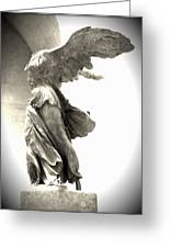 The Winged Victory - Paris Louvre Greeting Card