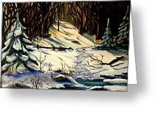 The Winter Trail Greeting Card