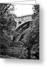 The Wissahickon Creek And Henry Avenue Bridge Greeting Card