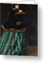 The Woman In The Green Dress Greeting Card