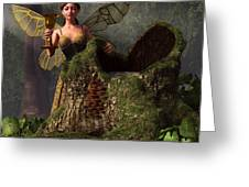 The Wood Sprite Greeting Card