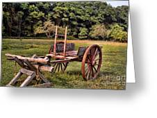 The Wooden Cart Greeting Card