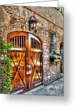 The Wooden Doorway Greeting Card