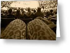 The World Thru Leopard Printed Pants Greeting Card