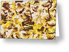 The Yellow Paintings Greeting Card by Odon Czintos