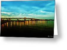The York River Greeting Card by Bill Cannon