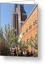 Theater District And City Flowers Greeting Card