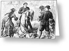 Theater: False Shame, 1872 Greeting Card