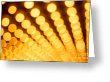 Theater Lights In Rows Defocused Greeting Card