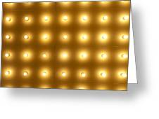 Theater Lights In Rows Greeting Card