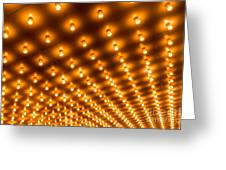 Theater Marquee Lights In Rows Greeting Card