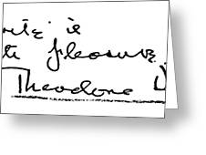 Theodore Dreiser (1871-1945) Greeting Card