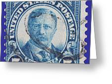 Theodore Roosevelt Postage Stamp Greeting Card
