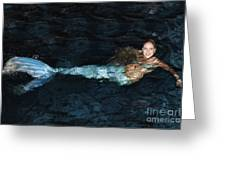 There Is A Mermaid In The Pool Greeting Card