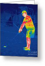 Thermogram Of A Golfer Greeting Card