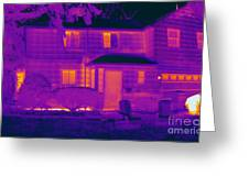 Thermogram Of A Home In Winter Greeting Card