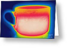 Thermogram Of A Hot Coffee Cup Greeting Card