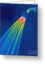 Thermogram Of A Shower Head Greeting Card by Ted Kinsman