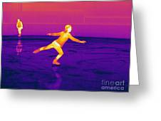 Thermogram Of A Skater Greeting Card