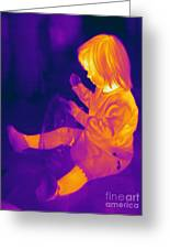 Thermogram Of A Young Girl Greeting Card