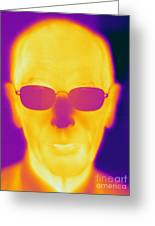 Thermogram Of An Elderly Man Greeting Card