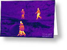 Thermogram Of People Walking Greeting Card