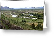 Thingvellir Valley Greeting Card
