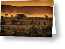 This Is Namibia No. 12 - Walking The Desert Greeting Card