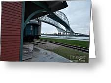 Thomas Edison Depot And Blue Water Bridges 2012 Greeting Card