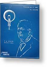 Thomas Edison Lightbulb Patent Artwork Greeting Card